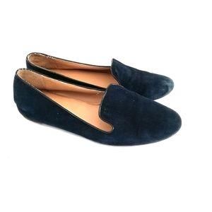 JCrew Women's Addie Navy Suede Slip on Loafers
